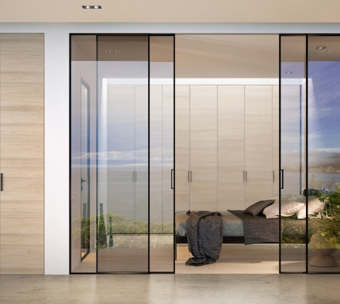 Puerta-corredera-a-techo-vidrio-aluminio-2