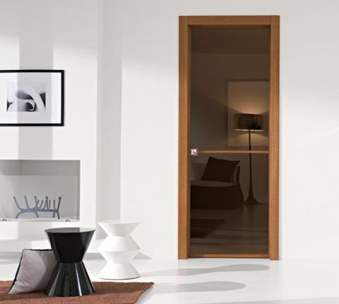 Puerta-corredera-empotrada-madera-vidrio